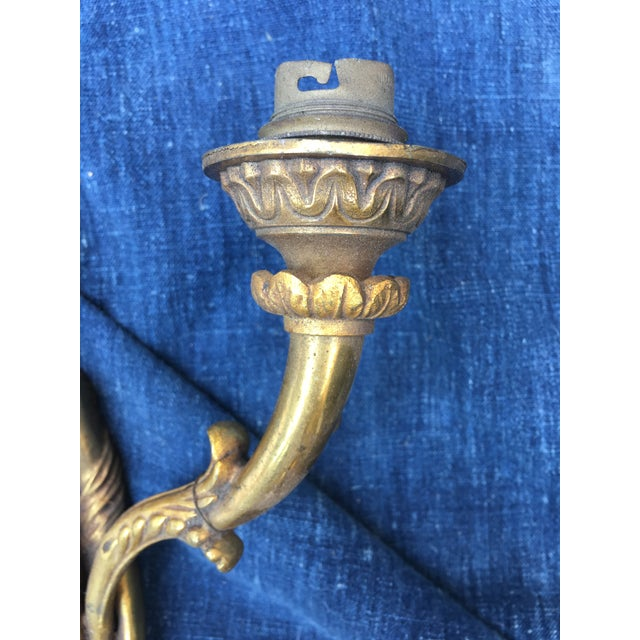 Brass Egyptian Goddess Wall Sconce For Sale - Image 7 of 9