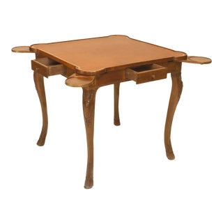 French Provincial Louis XV Walnut Game Table For Sale