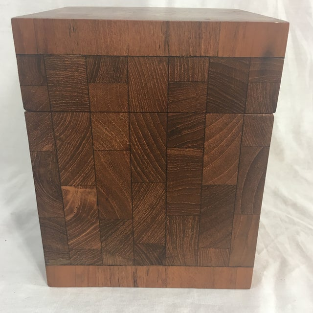 Mid-Century Modern Dunhill Vintage British Crown Colony Teak Humidor Box For Sale - Image 3 of 8