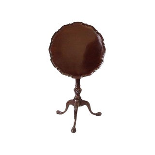 Late 18th Century Antique English George III Mahogany Pie Crust Table For Sale