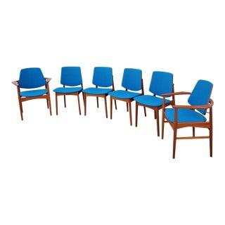 1960's Arne Hovmand Olsen Teak Dining Chairs-Set of 6 For Sale