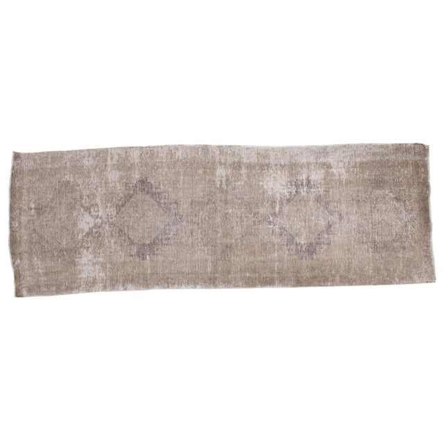 "Distressed Oushak Runner - 4'4"" X 12'9"" - Image 1 of 9"