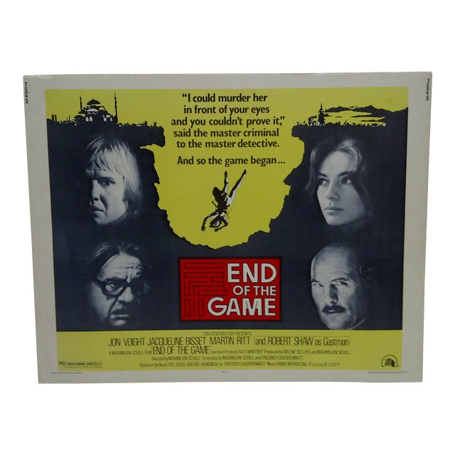 """Vintage """"End of the Game"""" Movie Poster For Sale"""