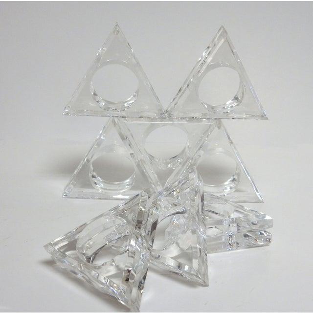 Mid-Century Modern Acrylic Napkin Rings - Set of 8 - Image 3 of 5