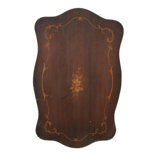 Antique French Country Brown Floral Picture Board For Sale
