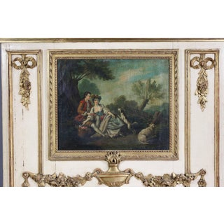 Louis XVI Style Giltwood and Crème Painted Trumeau Preview