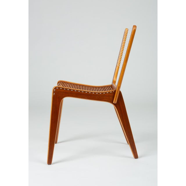 Pair of Canadian Modernist Cord Chairs by Jacques Guillon For Sale - Image 4 of 13