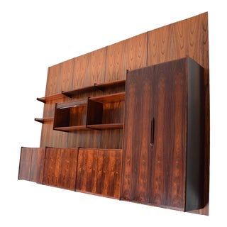 1960s Brazilian Rosewood Wall Unit Four Panel Pega by Juul Christensen For Sale