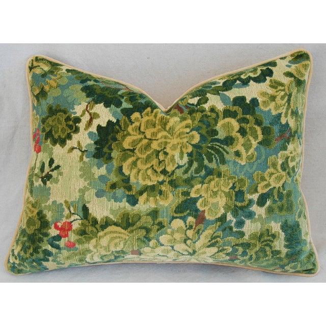 Designer Scalamandre Velvet Marly Pillows - Pair - Image 3 of 11