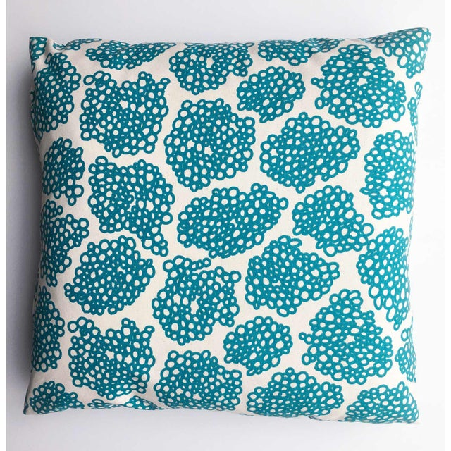 "Studio Bon Topaz Hand-Printed ""Oodles"" Pillow - Image 2 of 4"