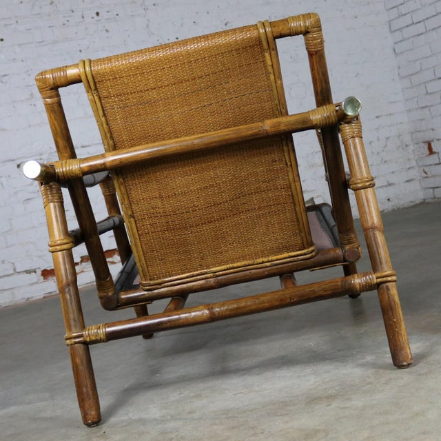 Mid 20th Century John Wisner for Ficks Reed Rattan Lounge Chair For Sale - Image 5 of 13