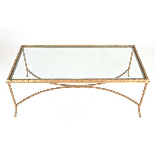 1950s French Gilt Bronze Cocktail Table in the Style of Maison Baguès, circa 1950s For Sale - Image 5 of 7