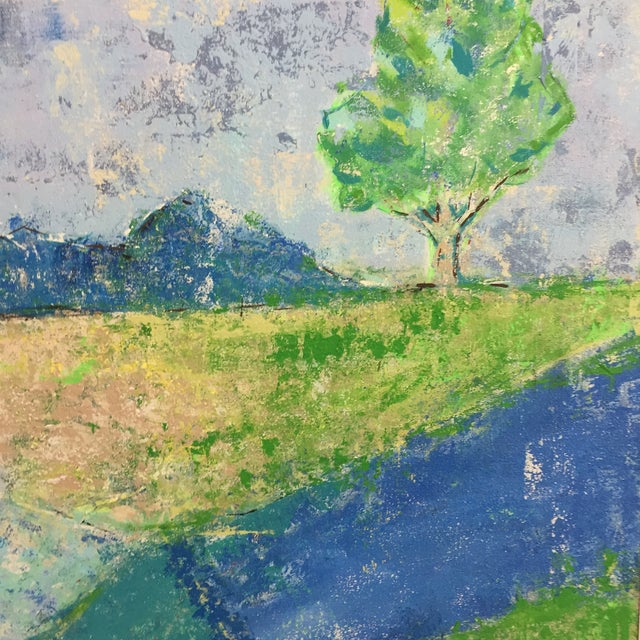 Katherine Musser Berry Tree in Landscape Original Acrylic on Canvas Painting For Sale - Image 4 of 9