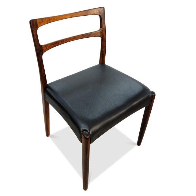 Teak Original Danish Mid Century Johannes Andersen Rosewood Dining Chairs - Set of 4 For Sale - Image 7 of 9