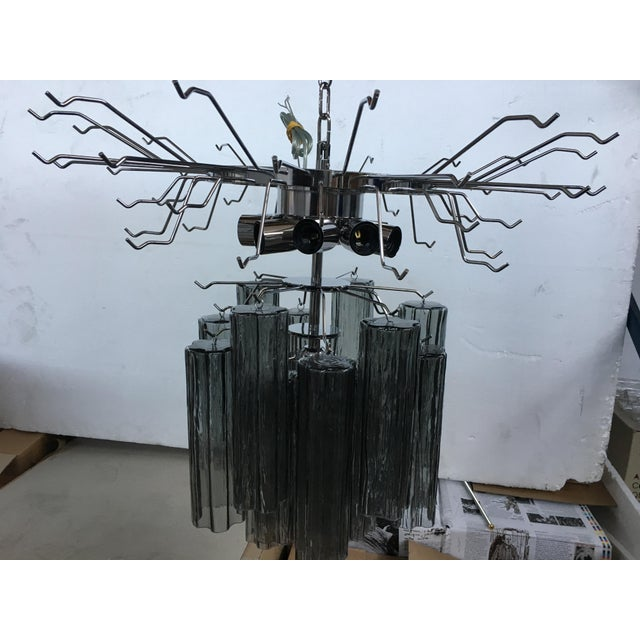 """Contemporary Contemporary Murano Glass """"Tronchi"""" Chandelier For Sale - Image 3 of 8"""