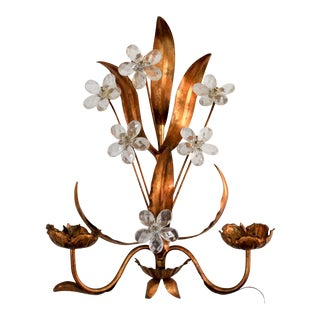 Italian Candle Wall Sconce For Sale