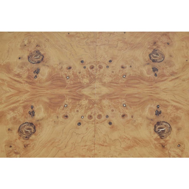 Wood Pair of Milo Baughman Burl Wood End Tables or Nightstands For Sale - Image 7 of 10