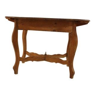 Antique Bleached Oak Farmhouse Table For Sale