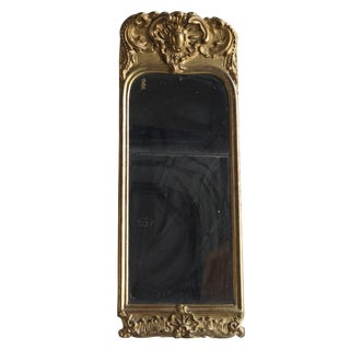 Mid-18th Century French Rococo Gold Leaf Mirror For Sale