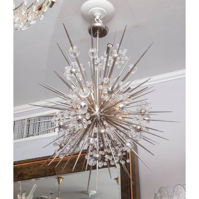 Custom Austrian Crystal Spiked Sputnik For Sale - Image 10 of 10