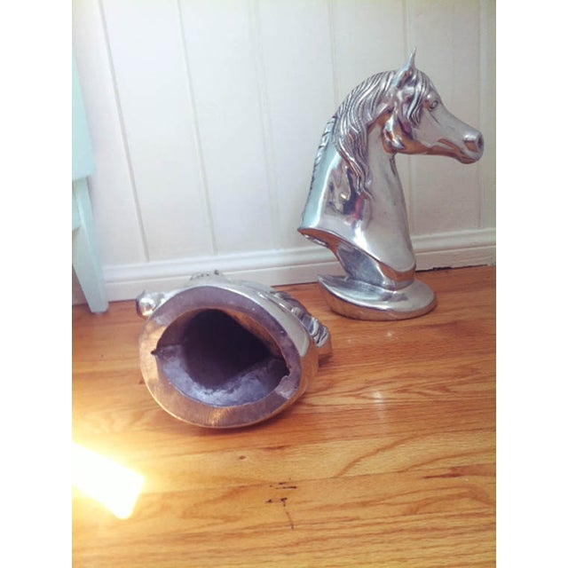 Single Chrome Horse Head For Sale - Image 4 of 6