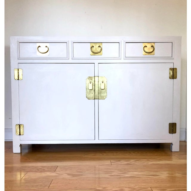 1960's White Credenza by John Stuart For Sale - Image 9 of 9