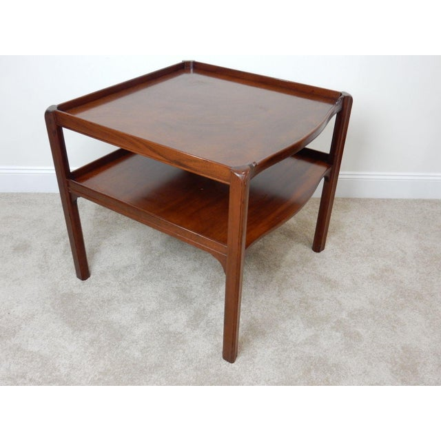Baker Furniture Large 2 Tier Mahogany Table - Image 5 of 11