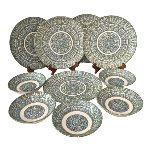 Royal-Ironstone Baghdad 10-Piece Bowls & Plates - Set of 5 For Sale