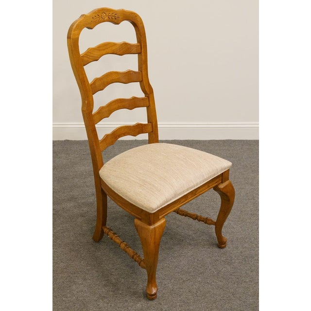 Traditional American Drew Saxony Collection Ladderback Dining Side Chair For Sale - Image 3 of 9