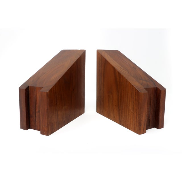 Mid-Century Modern Walnut Bookends For Sale - Image 4 of 10