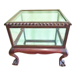 Chippendale Style Chairside Vitrine For Sale