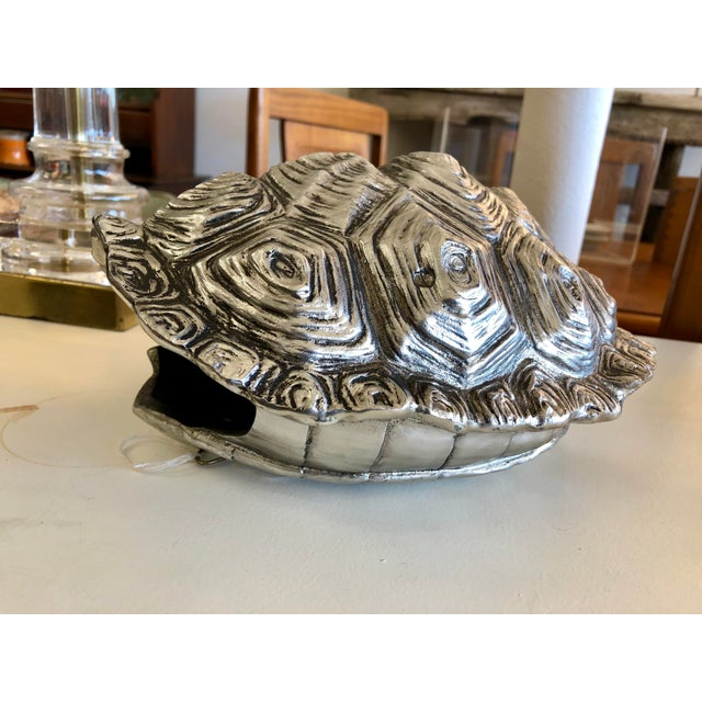 Silver Modern Contemporary Silver Faux Tortoise Shell For Sale - Image 8 of 8
