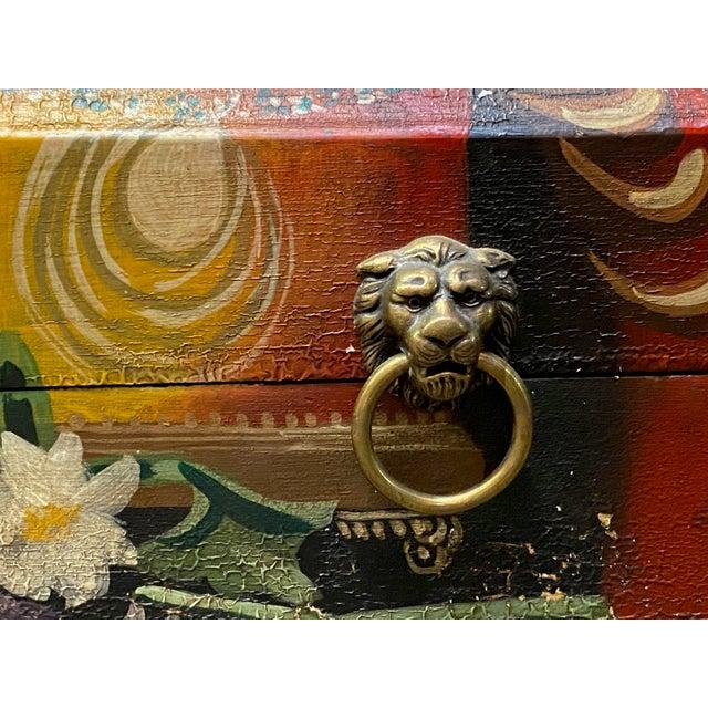 Vintage Italian Wood Painted Box For Sale - Image 4 of 6