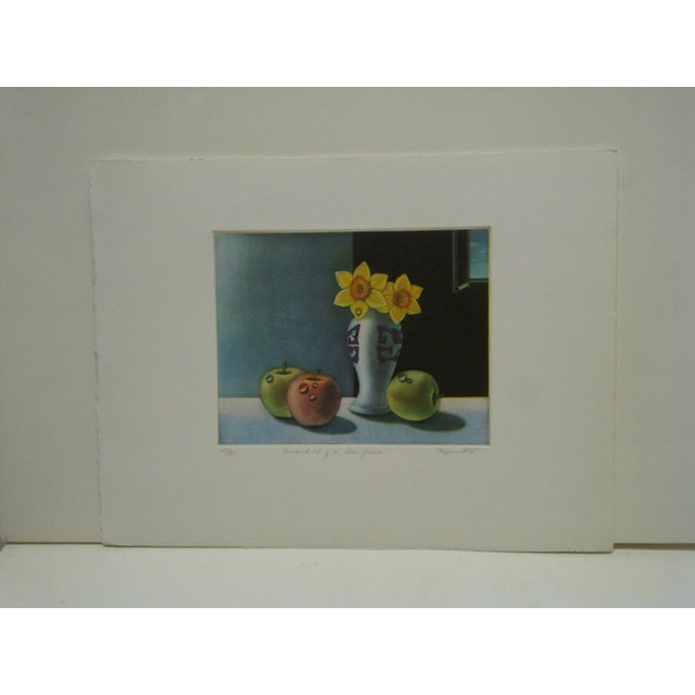 """Screen Print """"Quand Il Y Aura Des Fleurs"""" by Tanibata For Sale In Pittsburgh - Image 6 of 6"""