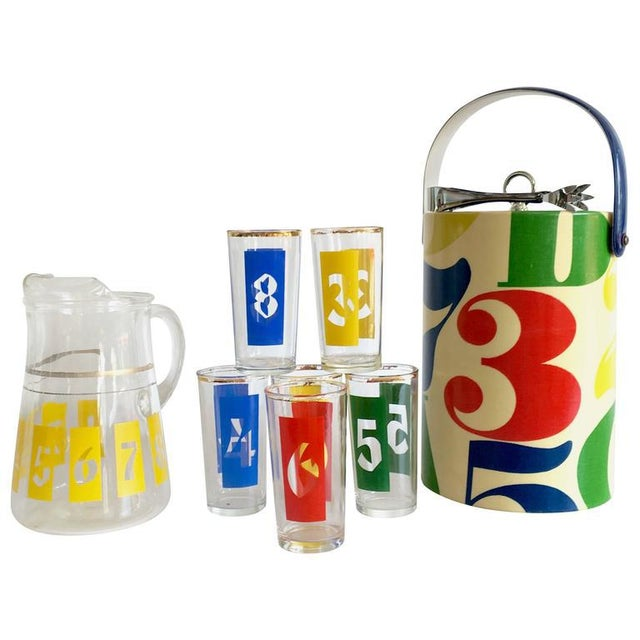 "1960s Graphic ""Numbers"" Bar Set - Set of 10 - Image 8 of 8"