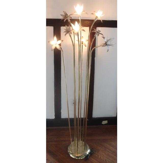 Vintage Mid-Century Modern Lotus Floor Lamp For Sale - Image 10 of 10