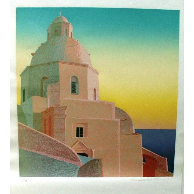 Greek Island Scene Lithograph - Image 2 of 4