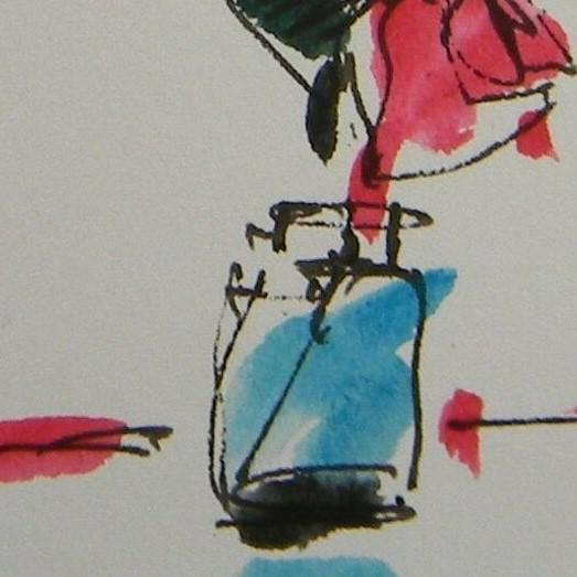Contemporary Jose Trujillo Original Pink Rose Decor Watercolor Painting Signed For Sale - Image 3 of 4