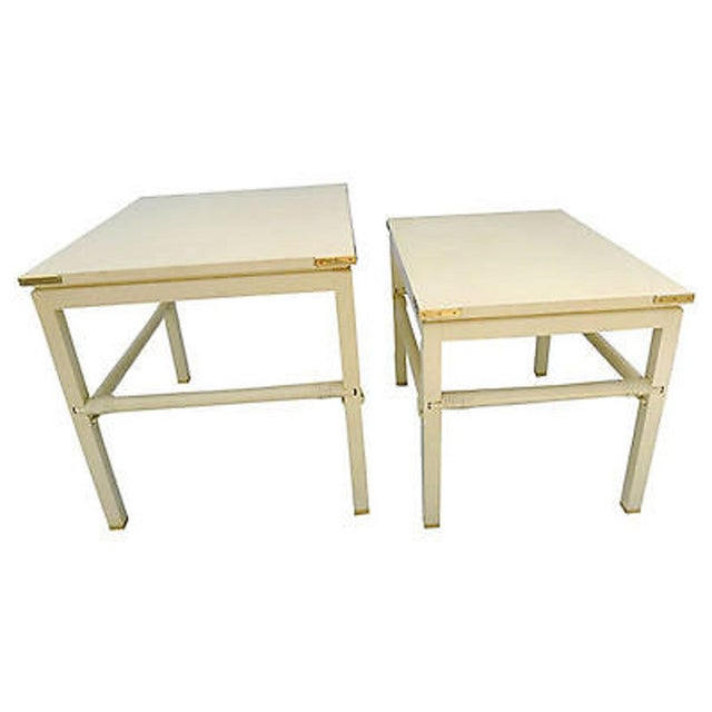"""90's costume made for Interior Designer in Connecticut , nesting tables S ( 2 ) makers mark reads """" A.J Skenderian & Co..."""