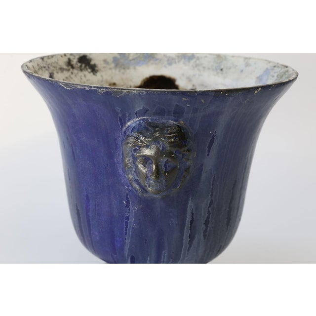 Cast Iron Enamel Rouen Urn For Sale In Houston - Image 6 of 10