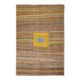 "Modern Style Turkish Kilim Area Rug - 8'5"" X 12'5"" For Sale"