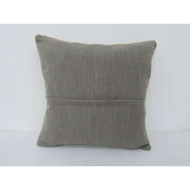 Islamic Vintage Turkish Washed Out Decorative Pillow Cover For Sale - Image 3 of 4