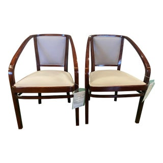 Pair of Gustav Siegel Secession Armchairs For Sale