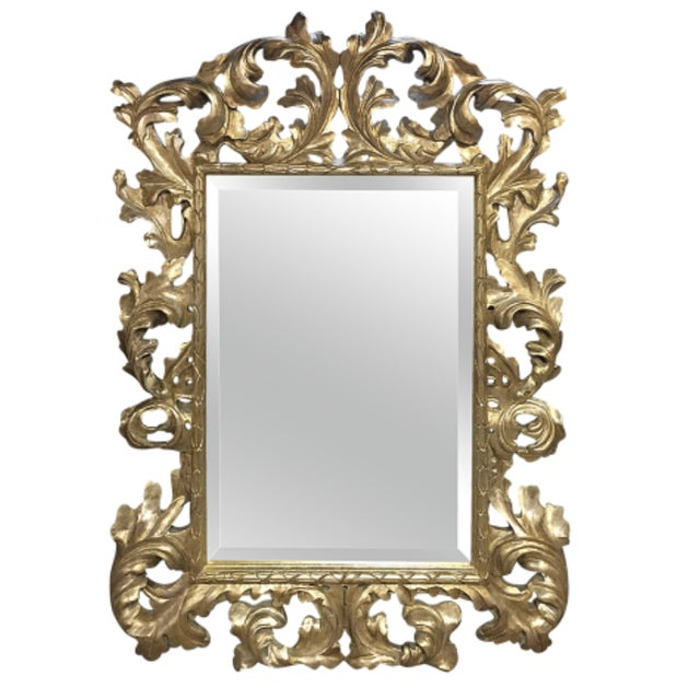 1900s Mid-Century Modern Lawson Fenning Gilt Carved Mirror For Sale In Los Angeles - Image 6 of 6