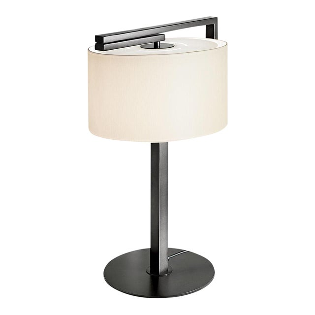 Black Bronze Lamp With 'Swivel' Shade For Sale