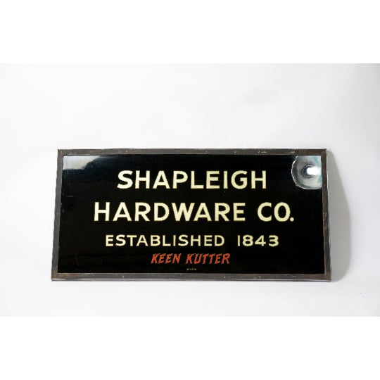 This beautiful glass sign originates from the turn of the century. This piece was reverse painted and the letters were...