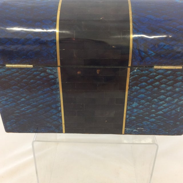 Maitland- Smith Lapis & Penshell Box - Image 7 of 11