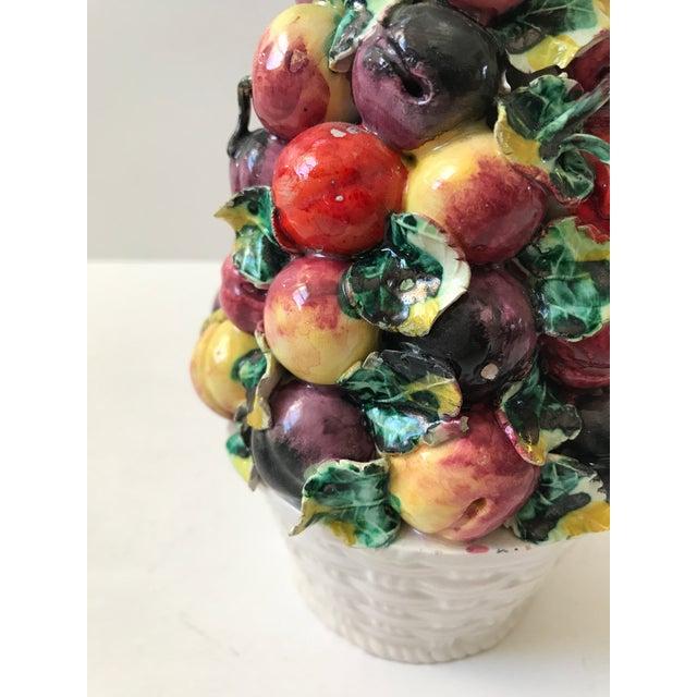 Italian Vintage Porcelain Italian Fruit Topiary For Sale - Image 3 of 9
