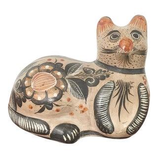 Vintage Extra Large Tonala Pottery Cat
