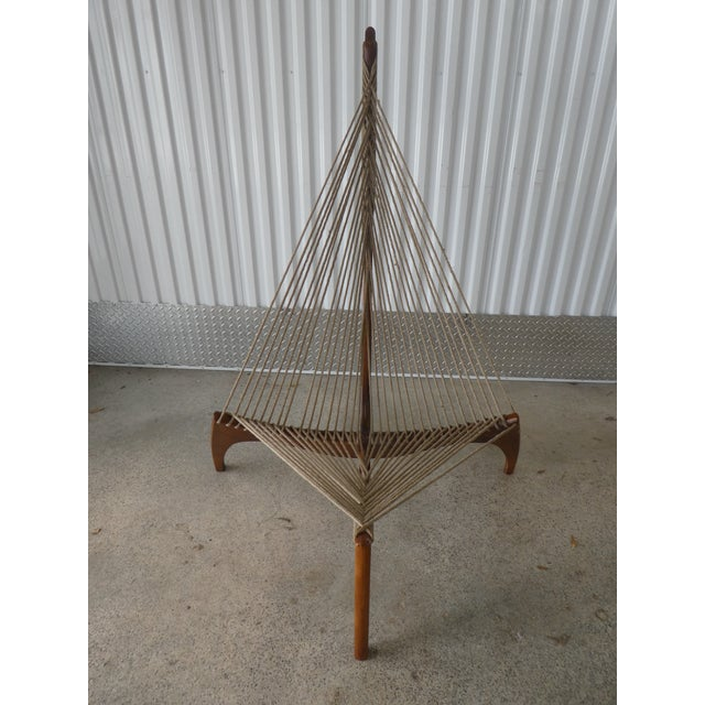 Mid Century Modern Danish Modern Jorgen Hovelskov Harp Chair sold as found in vintage condition showing normal signs of...